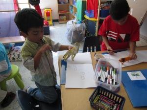 Making dinosaur books