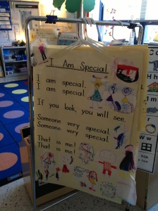 Our charts are stored here for children to read during Reader's Workshop