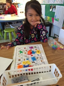 Matching letters to ABC chart
